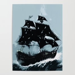 Pirate in Storm Poster