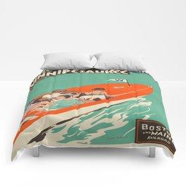 Vintage poster - Lake Winnipesaukee Comforters