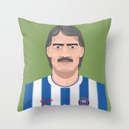 Roy McDonough - Colchester United Legends  Throw Pillow