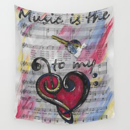 Music is Key 1 Wall Tapestry