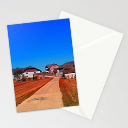 Peaceful countryside village scenery | landscape photography Stationery Cards