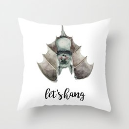 Let's Hang Throw Pillow