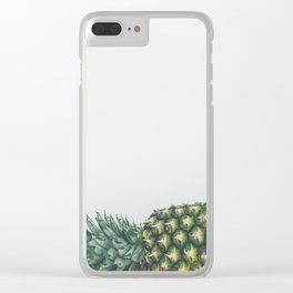 Fallen Pineapple Clear iPhone Case