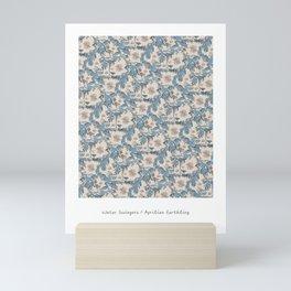 Water Swingers in Cream ( leafy sea dragon in blue and cream ) Mini Art Print
