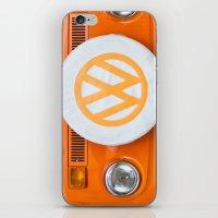 volkswagen iPhone & iPod Skins featuring Volkswagen Orange by Alice Gosling