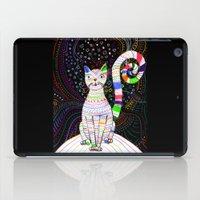 space cat iPad Cases featuring Space cat by ezgi karaata