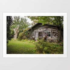 Log Cabin Art Print