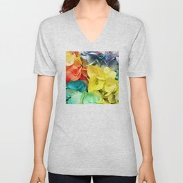 Rainbow-Colored Flowers: ALL Colors are Loved Unisex V-Neck