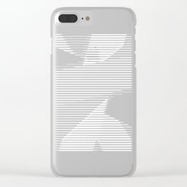 Halftone bitmap lines Clear iPhone Case