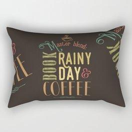 Coffee, book & rainy day Rectangular Pillow