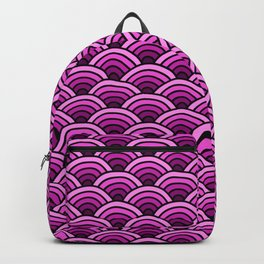 Japanese Waves Seigaiha Pink Backpack