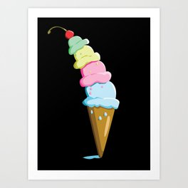 Time for Ice Cream Art Print