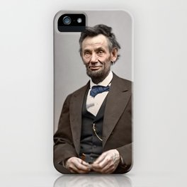 Abraham Lincoln Painting iPhone Case