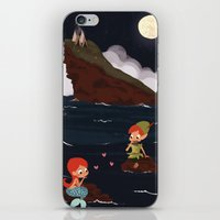 peter pan iPhone & iPod Skins featuring Peter Pan by Orelly