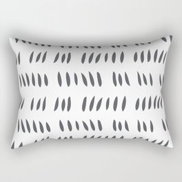 MATISSE CUTOUTS . SLATE GRAY + WHITE Rectangular Pillow
