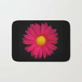 Pink Chrysanthemum Bath Mat