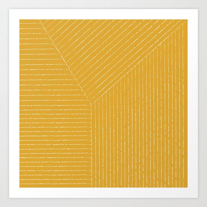 Lines (Mustard Yellow) Kunstdrucke