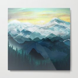 Mountain Range Metal Print