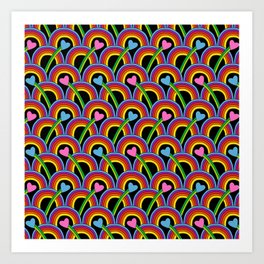 Hearts and Rainbows Art Print