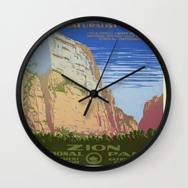 Vintage poster - Zion National Park Wall Clock