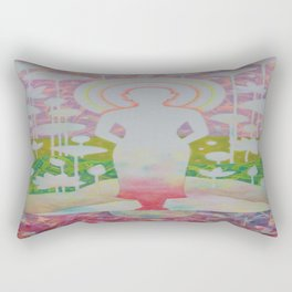 Peace of mind is liberated. Rectangular Pillow