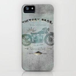 Motorbike Vintage Grunge Poster iPhone Case