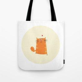 Paper Bag Cat Tote Bag