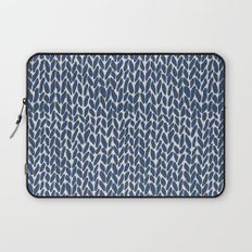 Hand Knit Navy Laptop Sleeve