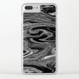 Marbled XIX Clear iPhone Case