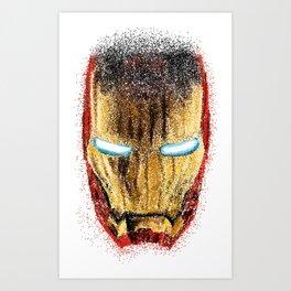 Iron Man Pointillism Art Print