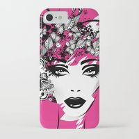 fashion illustration iPhone & iPod Cases featuring fashion illustration by Irmak Akcadogan