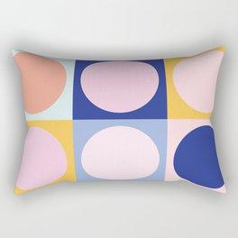 Colorful Circles in Squares Rectangular Pillow