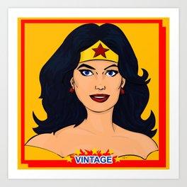 Super Powers Vintage 3 Art Print