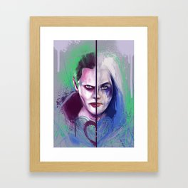 Mr J and Harley  Framed Art Print