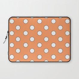 Orange Pastel Polka Dots Laptop Sleeve