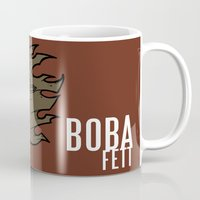 boba fett Mugs featuring Boba Fett by Twisted Dredz