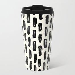 Ivory Vertical Dash Metal Travel Mug