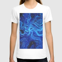 Galaxy Painting Acrylic Galaxy Art T-shirt