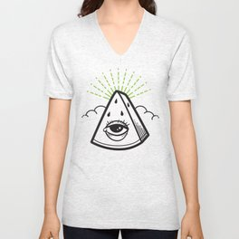 All-Seeing Melon in Rind Unisex V-Neck