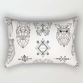 Geometric Animals Rectangular Pillow