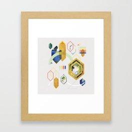 MidCentMod Collage 2 Framed Art Print