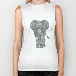 elephant zentangle Biker Tank
