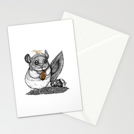 a little chinchilla Stationery Cards