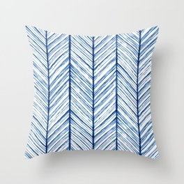 Shibori Herringbone Pattern Throw Pillow