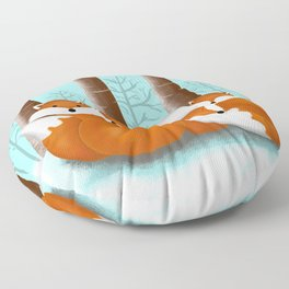 Slepping foxes Floor Pillow