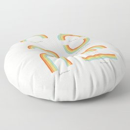 Know your Rainbows Floor Pillow