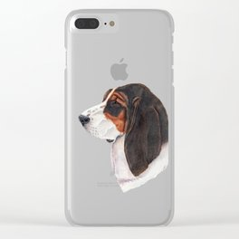 Basset hound - color Clear iPhone Case
