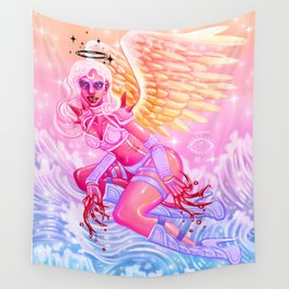 Ixia, Angel of the Bloodthirsty Wall Tapestry
