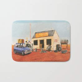 The Outback Petrol Station Bath Mat