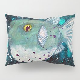 Friendly Green Fugu Redux Pillow Sham